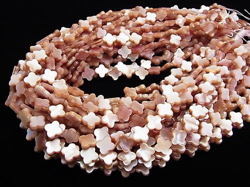 High Quality Pink Shell AAA Flower Motif 10 x 10 x 3 mm 1/4 or 1strand (aprx.15 inch / 38 cm)