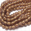 1strand $6.79! Lampwork Beads Round 10mm [gold powder x light purple] 1strand (aprx.10inch / 25cm)