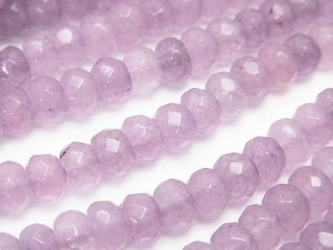 1strand $4.79! Lavender Color Jade Faceted Button Roundel 6x6x4mm 1strand (aprx.15inch / 36cm)