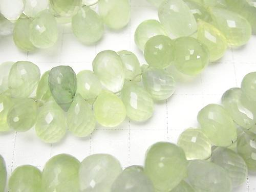 High Quality Prehnite AAA- Drop  Faceted Briolette  10pcs $19.99