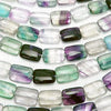 Multicolor Fluorite AAA - Rectangle 18 x 13 x 7 mm half or 1 strand (aprx.15 inch / 37 cm)