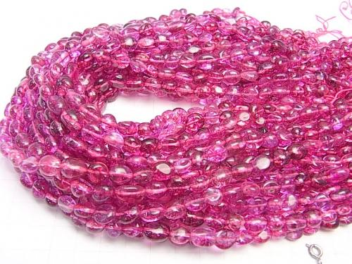 1strand $5.79! Pink color Cracked Crystal Nugget 1strand (aprx.15inch / 38cm)