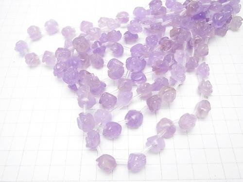 Rose Amethyst AAA - Rose 12 mm half or 1 strand (aprx.15 inch / 36 cm)