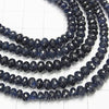MicroCut!  Top Quality Sapphire AAA++ Faceted Button Roundel  1/4 or 1strand (aprx.16inch/40cm)