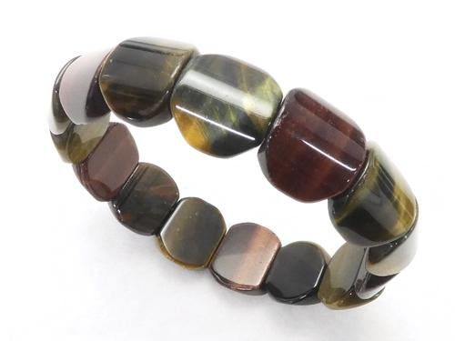 1strand $11.79! Tiger Eye 3 color mix AAA - AA ++ Oval 16 x 14 x 6 1 strand (Bracelet)