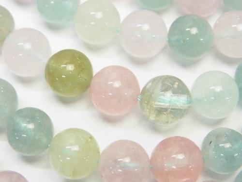 High Quality Beryl Mix (Multi Color Aquamarine) AAA Round 10 mm 1/4 or 1strand (aprx.15 inch / 37 cm)