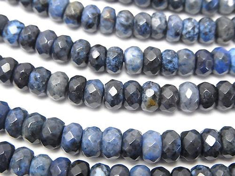 Dumortierite  Faceted Button Roundel 6x6x3mm half or 1strand (aprx.15inch/38cm)