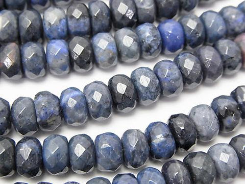 Dumortierite  Faceted Button Roundel 8x8x5mm half or 1strand (aprx.15inch/38cm)