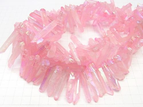 1strand $12.99! Crystal Natural Point Cut AB Coating Pastel Pink Size Gradation 1strand