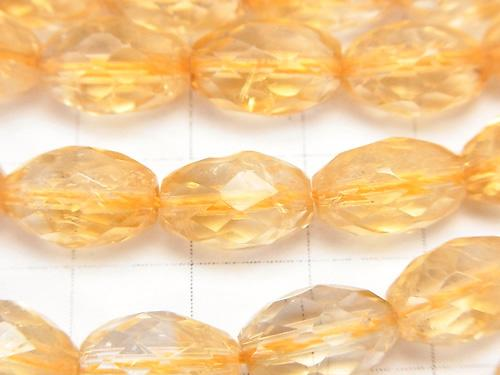 Citrine AAA--AA++ Faceted Rice 12x8x8 half or 1strand (aprx.15inch/36cm)