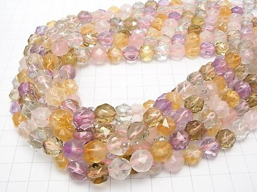 [Video] High Quality Mixed Stone AAA Star Faceted Round 10mm 1/4 or strand (aprx.15inch / 38cm)