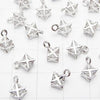 Metal Parts CZ Charm McAva 9 x 6 x 6 mm Silver color 3 pcs $3.79!