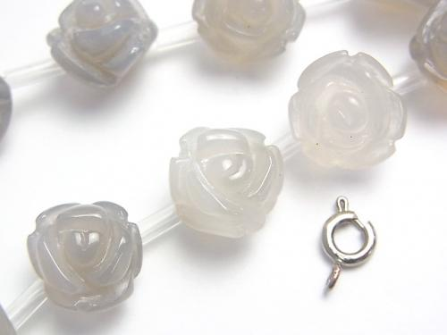 Gray Onyx Rose [8mm][10mm][12mm] half or 1strand (aprx.15inch/38cm)