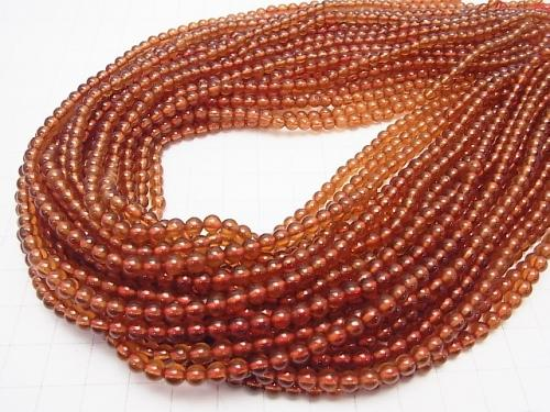 High Quality Hessonite Garnet AAA Round 4mm half or 1strand (aprx.15inch/38cm)