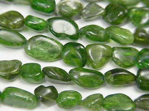 Sale! 1strand $9.79! Chrome Diopside AA Small Size Nugget 1strand (aprx.15inch / 36cm)