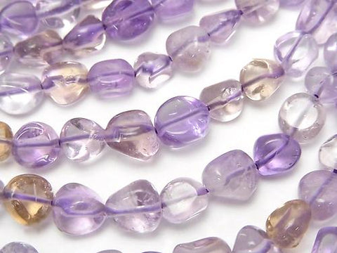 1strand $8.79! Pink Amethyst xCitrine AA ++ Small Size Nugget 1strand (aprx.15inch / 37cm)