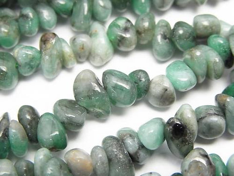 1strand $9.79! Brazil Emerald AA Chips (Small Nugget) 1strand (aprx.15inch / 38cm)
