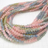 Diamond Cut! Beryl Mix (Multi Color Aquamarine) AA ++ Faceted Round 5 mm half or 1 strand (aprx.22 inch / 54 cm)