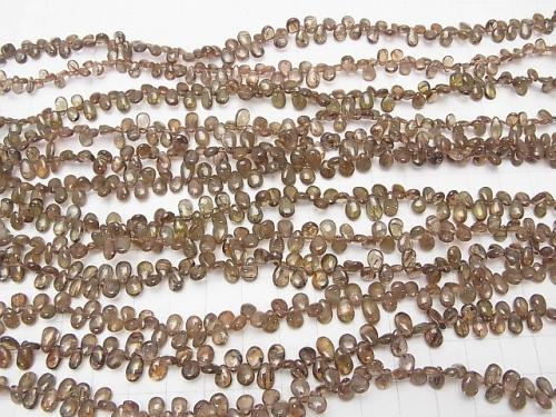 High Quality Andalusite AAA Pear shape (Smooth) half or 1strand (aprx.7inch / 18 cm)