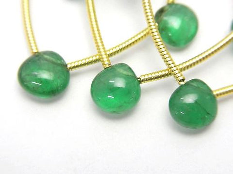 Zambia High Quality Emerald AAAAA Chestnut (Smooth) 1strand (5pcs)