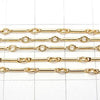 14KGF straight bar chain 8 x 2.3 mm 10 cm $3.79!