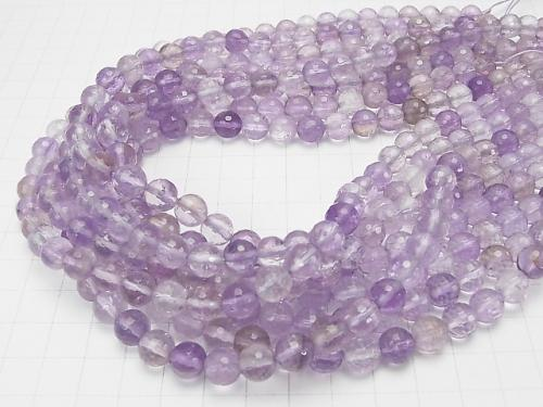 Rose Amethyst xCitrine AA ++ 128 Faceted Round 8 mm half or 1 strand (aprx.15 inch / 37 cm)