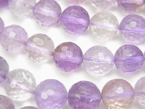 Rose Amethyst xCitrine AA ++ 128 Faceted Round 10 mm half or 1 strand (aprx.15 inch / 36 cm)
