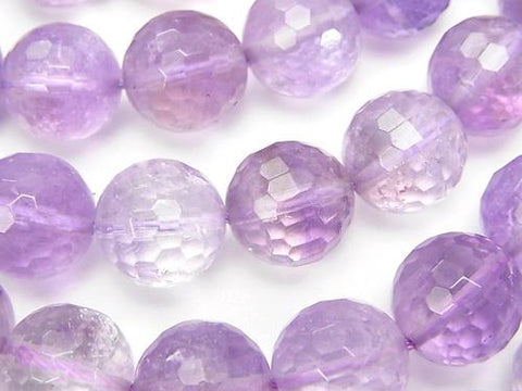 Rose Amethyst xCitrine AA ++ 128 Faceted Round 12 mm half or 1 strand (aprx. 14 inch / 35 cm)