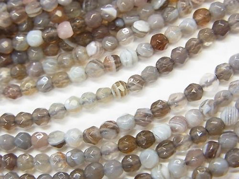 1strand $13.99! Botswana Agate  32Faceted Round 3mm 1strand (aprx.15inch/38cm)