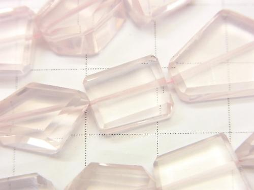 High Quality Madagascar Rose Quartz AAA Faceted Nugget half or 1strand (aprx.19inch / 46 cm)