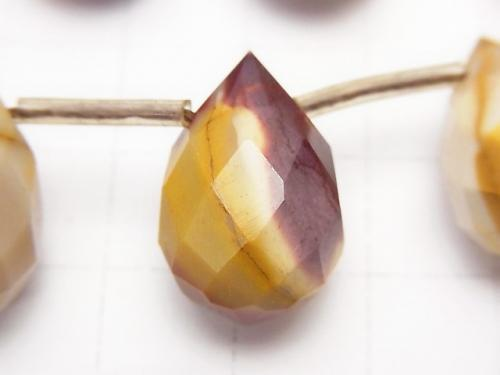 Mookaite  Faceted Drop 18x12x12 half or 1strand (aprx.15inch/38cm)