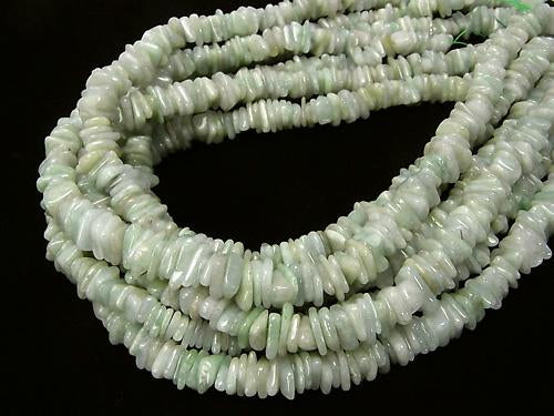 1strand $8.79! Burma Jadeite AA ++ Chips (Small Nugget) 1strand (aprx.15inch / 38cm)