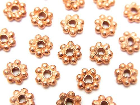 Copper Roundel Daisy [4 mm] [5 mm] [6 mm] 1 strand (aprx.7 inch / 18 cm)