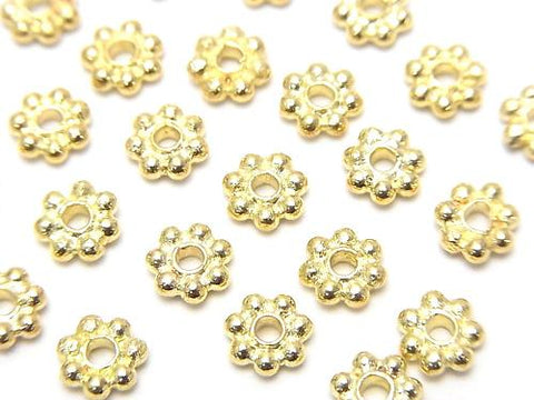 Copper Roundel Daisy [4 mm] [5 mm] [6 mm] Antique Finish 1 strand (aprx.7 inch / 18 cm)