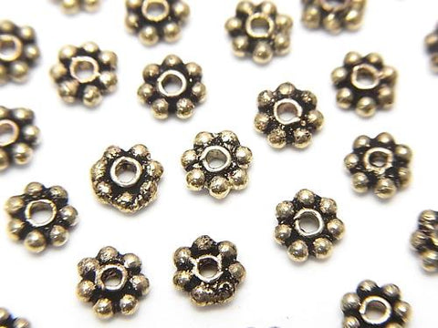 Brass Roundel Daisy [4 mm] [5 mm] [6 mm] Oxidized Finish 1 strand (aprx.7 inch / 18 cm)