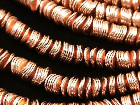 Copper  Roundel 6x6x1mm half or 1strand (aprx.7inch/18cm)