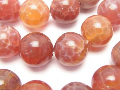Fire Agate Round 16 mm 1/4 or 1strand (aprx.15 inch / 36 cm)