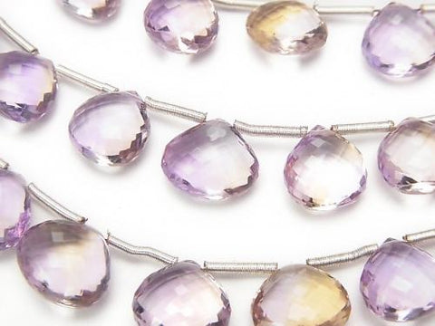MicroCut!  High Quality Ametrine AAA Chestnut  Faceted Briolette  half or 1strand (aprx.8inch/20cm)