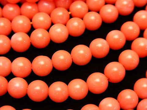 1strand $6.79! Pink Orange Coral (Dyed) Round 6mm 1strand (aprx.15inch / 38cm)