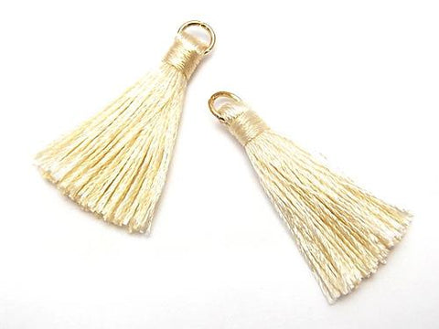10pcs $2.39! Tassel Charm with Ring [S size] Ivory 10pcs