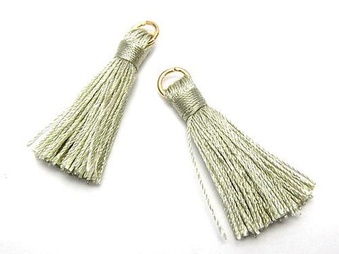 10pcs $2.39! Tassel Charm with Ring [S size] Earth Green 10pcs