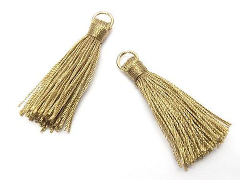 10pcs $2.39! Tassel Charm with Ring [S size] Olive 10pcs