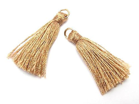 10pcs $2.39! Tassel charm with ring [small size] Camel 10pcs