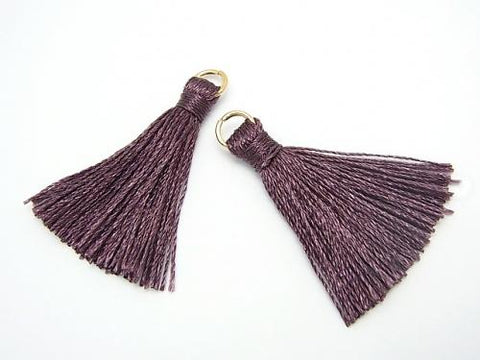 10pcs $2.39! Tassel Charm with Ring [S size] Wine Red 10pcs