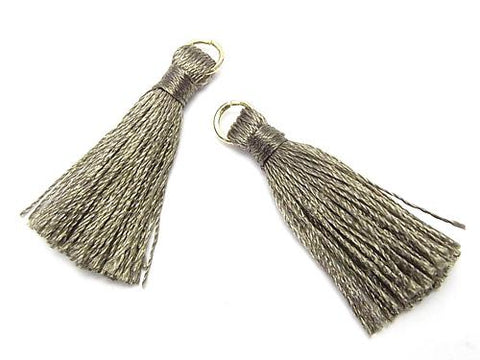 10pcs $2.39! Tassel Charm with Ring [S size] Moss Green 10pcs