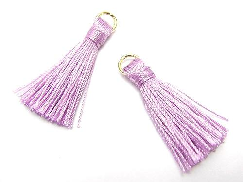 10pcs $2.39! Tassel charm with ring [small size] Lavender 10pcs