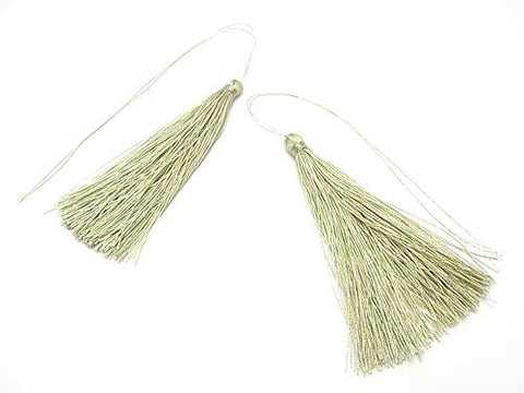 10pcs $3.79! Tassel charm [L size] Earth Green 10pcs