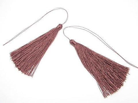10pcs $3.79! Tassel Charm [L size] Wine Red 10pcs