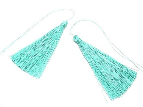 10pcs $3.79! Tassel Charm [L size] Mint Green 10pcs