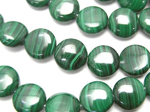 Malachite AAA Coin 10x10x5mm half or 1strand (aprx.15inch/37cm)
